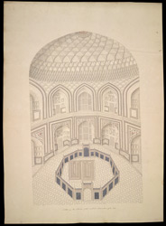 Interior of the Taj Mahal, Agra, showing the cenotaphs 1767